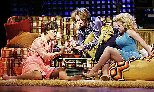 <b>'9 to 5: The Musical':</b> Judy (Stephanie Block), Violet (Allison Janney) and Doralee (Megan Hilty)  share a joint at Violet's home.