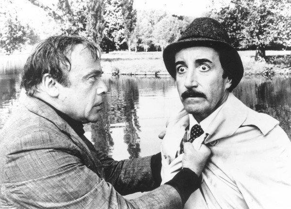 "Herbert Lom, left, appears with Peter Sellers in ""The Pink Panther Strikes Again."" Lom's first time out as the long-suffering Charles Dreyfus was in ""A Shot in the Dark,"" the 1964 follow-up to ""The Pink Panther,"" writer-director Blake Edwards' 1963 hit that introduced Sellers as Jacques Clouseau."