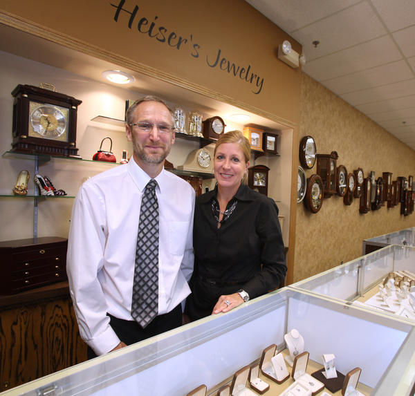 Jeff and Lisa Heiser are the owners of Heiser's Jewelry in the Lakewood Mall