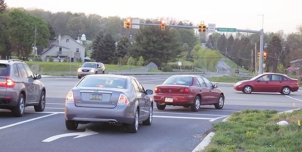 It is near this intersection of Krocks Road and the Route 222 Bypass that developers hope to put a shopping complex, which would include a Costco super-supermarket, in Lower Macungie Township.