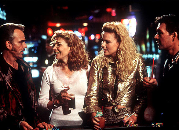 "The 2002 film ""Waking Up in Reno"" starrred, from left,  Billy Bob Thorton, Natasha Richardson, Charlize Theron and Patrick Swayze."