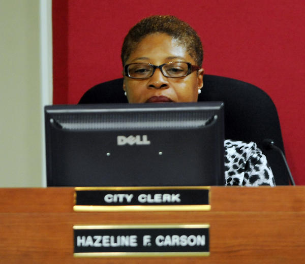 Fired Lauderdale Lakes City Clerk Hazeline Carson has been hired as city clerk for West Palm Beach.