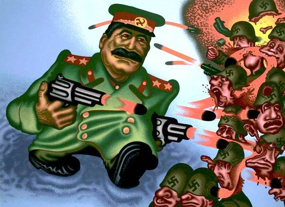 Pop artist Peter Saul breaks all the rules - Stalin