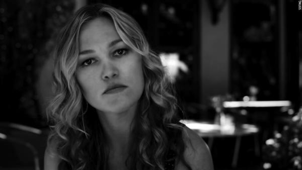 "Scene from ""Sexting,"" directed and written by Neil LaBute. Julia Stiles stars as a woman reaching out to the wife of the married man she has been having an affair with, in ""Stars in Shorts."""