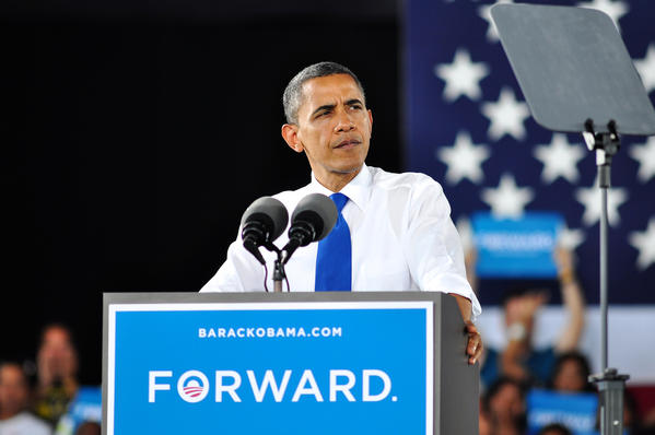 President Barack Obama campaigns in Virginia Beach on Sept. 27, 2012.