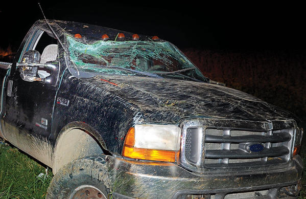 Aaron Coyle, 19, of Colby Road, suffered serious injuries Thursday after being thrown from his Ford pickup truck when he lost control of the vehicle on Colby Road, about three miles from Bypass Road.