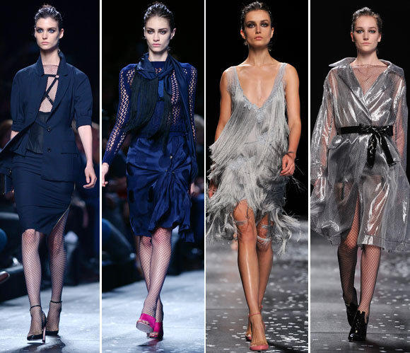 Looks from the Nina Ricci spring-summer 2013 runway collection shown during Paris Fashion Week.