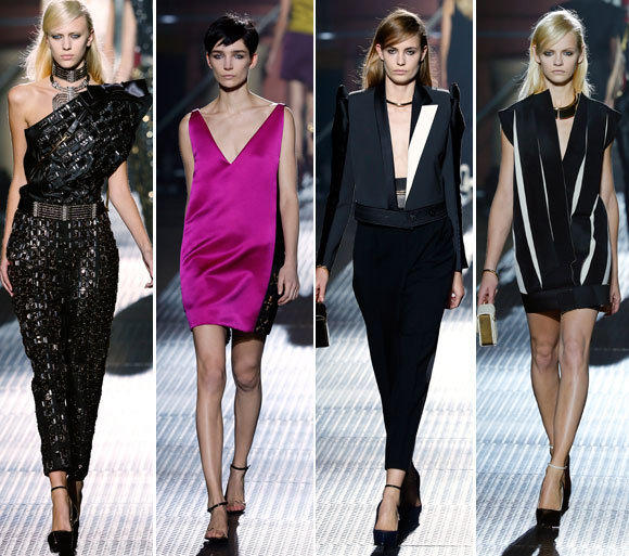 Looks from the Lanvin spring-summer 2013 collection shown during Paris Fashion Week.