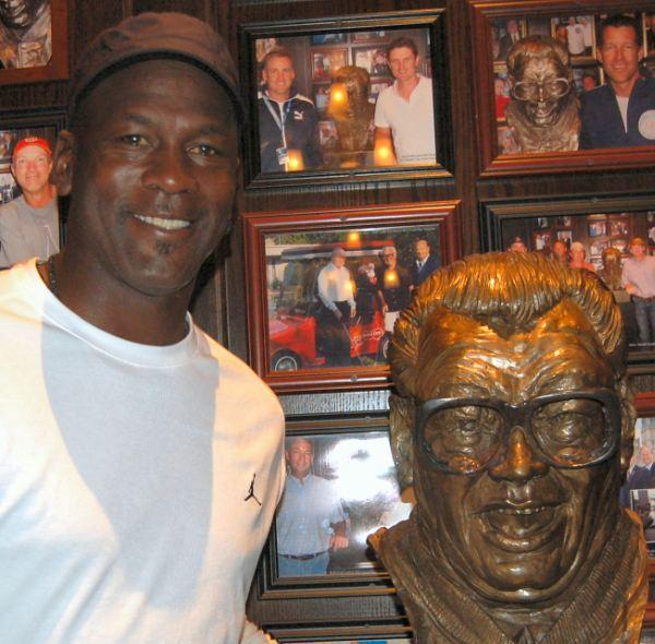 NBA legend Michael Jordan at Harry Caray's Italian Steakhouse in Lombard September 27, 2012.