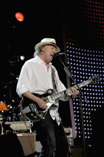 Neil Young at a tribute to Paul MCCartney
