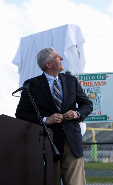 Congressman Daniel Webster talks during the dedication ceremony.