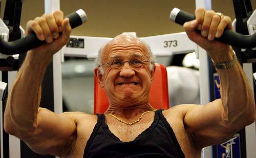 <b>PUSH IT:</b> Dr. Jeffry Life, 71, lifts weights five days a week. His health regimen includes taking testosterone and human growth hormone.