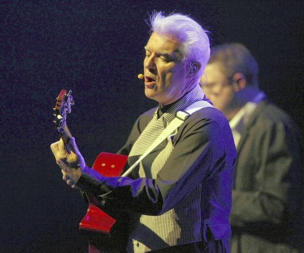 David Byrne, performing at Chicago Theater