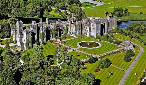 Ashford Castle in County Mayo remains a popular haunt of the moneyed class. But the helicopters that used to ferry in wealthy Irishmen have disappeared.