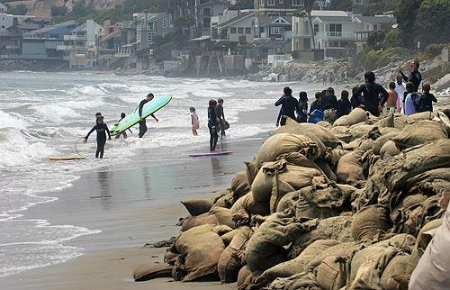 Malibu beach at risk