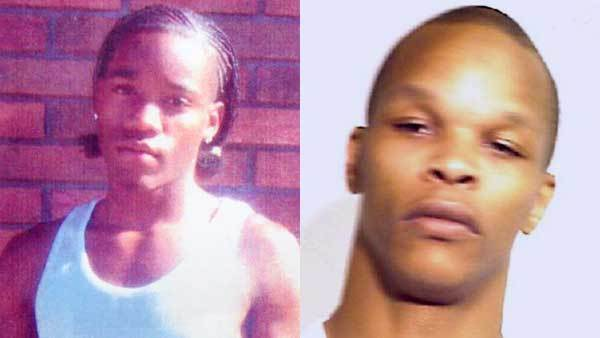 Willie Williams III in a family photo, left, booking photo of Eddie B. Fenton, right.
