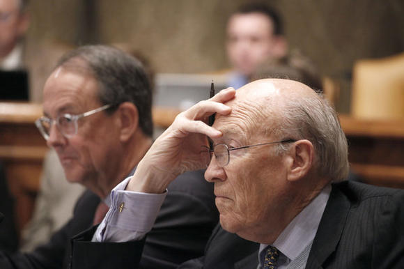 Erskine Bowles, left, and Alan Simpson