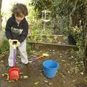 Amy Brenneman's children's garden: Digging in the garden