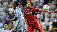 KANSAS CITY, Kan. — Sporting Kansas City doused the scorching-hot Fire attack Friday night and prevented coach Frank Klopas' side from vaulting into first place in MLS' Eastern Conference.