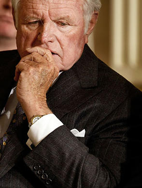 Sen. Edward M. Kennedy (D-Mass.) attends a White House forum on healthcare reform in March 2009. Kennedy's illness kept him away from the Senate for most of the year, as lawmakers have taken up one of his lifelong causes.