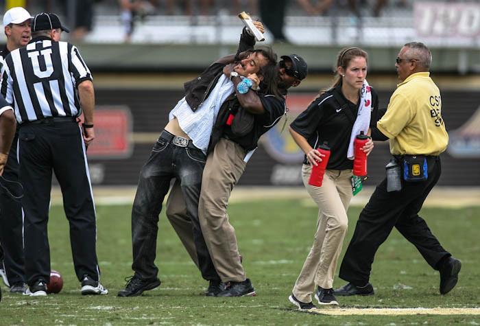 University of Central Florida Fan Removed From Field