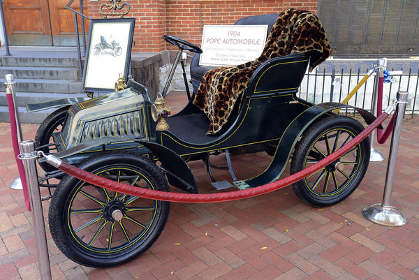 A 1904 Pope automobile manufactured in Hagerstown was on display Saturday during the Hagerstown 250th Celebration.