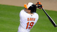 Chris Davis homered in the fourth inning – a two-run shot that was his fourth in his past three games.