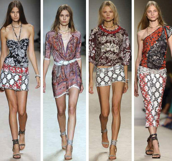 Looks from the Isabel Marant spring-summer 2013 collection shown during Paris Fashion Week.