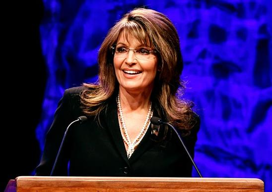 "Former Alaska Gov. Sarah Palin addresses a ""tea party"" convention in Nashville."