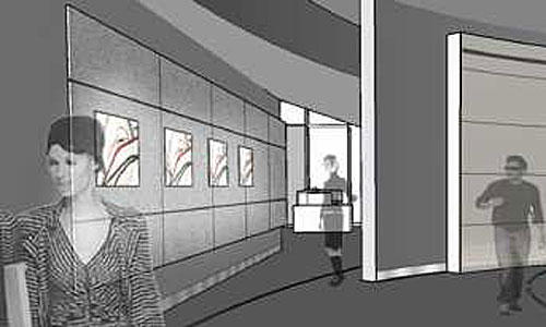 Rendering of new exhibition space.