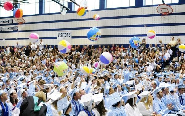 C. Milton Wright High School's Class of 2012, shown during its graduation in June, posted the best composite SAT score average among Harford's 10 public high schools.