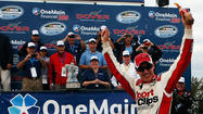 Joey Logano dominated on the concrete to win the Nationwide Series race at Dover International Speedway.