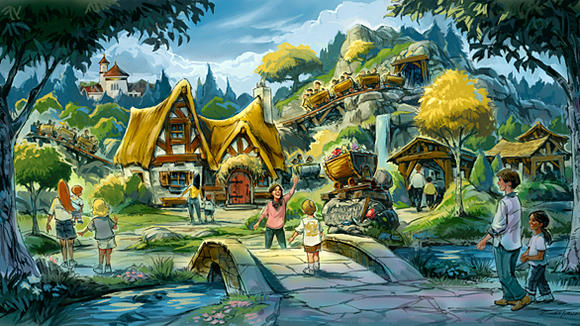 Seven Dwarfs Mine Train roller coaster planned for the Fantasyland makeover coming to Disney World in 2012.