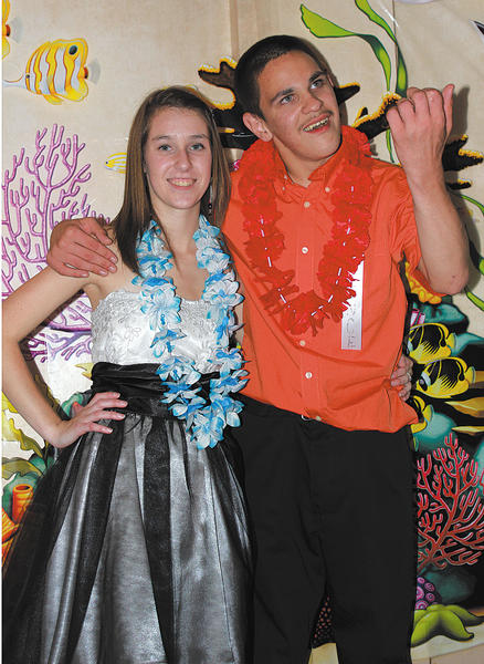Hannah Violet and Zachary Getridge, students at Boonsboro High School, are shown recently at a dance at Next Dimensions in Funkstown. Hannah recently received her Girl Scout Gold Award, the highest award in Girl Scouting. For her Gold Award project, Hannah arranged a dance for special-needs students in the county.