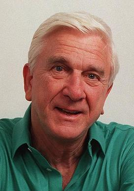 "Leslie Nielsen, the Canadian actor who began his career in serious dramatic roles and gained a wide audience in comedy spoofs such as ""Airplane!"" and TV's ""Police Squad,"" died Sunday in Fort Lauderdale, Fla., where he was being treated for pneumonia. He was 84. One of the best-known gags from ""Airplane!"" was when Nielsen is told ""Surely you can't be serious"