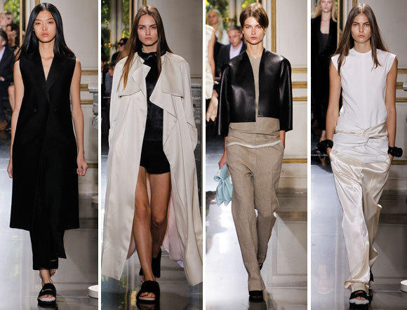 Looks from the Celine spring-summer 2013 collection shown during Paris Fashion Week.
