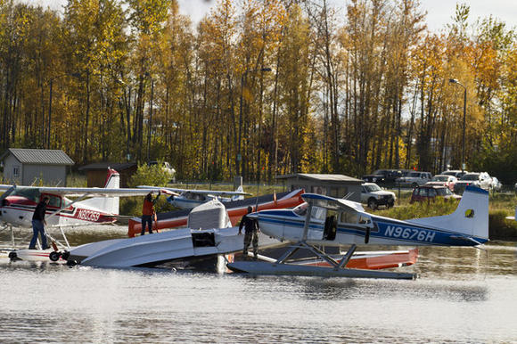 Plane Crashes in Spenard Lake