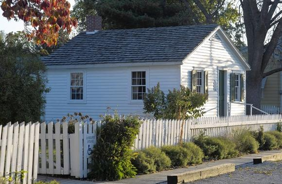 The 20x22-foot cottage in Galesburg in which author Carl Sandburg was born is open to the public.