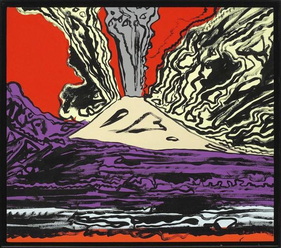 "Andy Warhol, ""Mount Vesuvius,"" 1985, acrylic & silkscreen on linen."