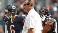 <strong>1. You can't focus on everything at one time</strong>, Mike Tice said, so the Bears offense has made a concerted effort to improve on first down. They have been terrible to this point, gaining 77 yards on 40 first-and-10 runs and 152 yards on 35 first-and-10 passes. Both statistics rank 29th. The Bears have averaged only 3.05 yards on first down, putting quarterback Jay Cutler in a hole. One thing improves that: running the football better. If the Bears can find some first-down holes it should open up shots down field in play action. Tice has tried it the other way – play action first – and it hasn't worked.