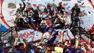 Brad Keselowski had just enough fuel left to take the checkered flag Sunday at Dover International Speedway for his second victory in three weeks.