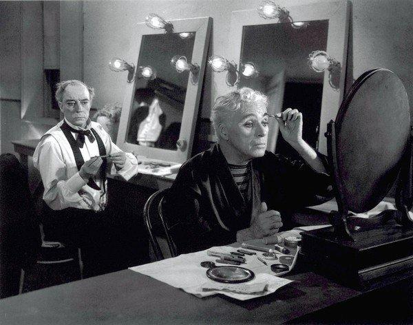 "Charlie Chaplin, right, and Buster Keaton in 1952's ""Limelight."""