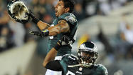 PHILADELPHIA — The Eagles paid tribute to Brian Dawkins on Sunday night with a rousing pregame ceremony in a fan-filled plaza inside Lincoln Financial Field and then honored him with a dazzling halftime show complete with video highlights in a darkened stadium, laser lights, fireworks and Merrill Reese.