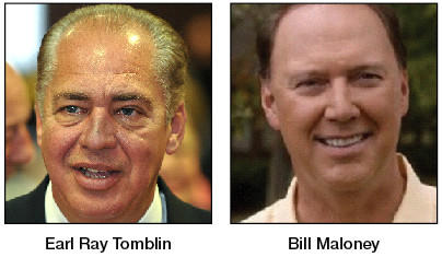 W.Va. Gov. Earl Ray Tomblin, left, and Republican challenger Bill Maloney