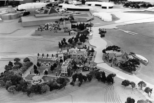 World Showcase, Epcot. A model showing different areas of the World Showcase at Disney's Epcot Center.