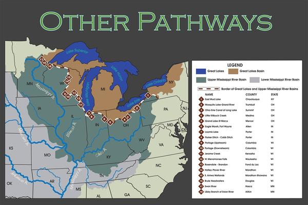 The U.S. Army Corps of Engineers recently released a report identifying 18 additional pathways between the Mississippi River Basin and the Great Lakes.
