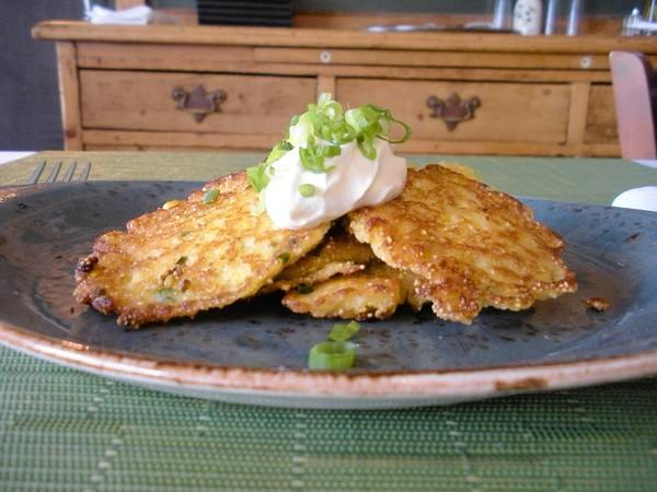 While there still is native corn at farmers' markets and farm stands, mix up a batch of these easy corn pancakes