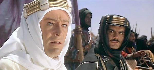Peter O'Toole and Omar Sharif in 'Lawrence of Arabia.'
