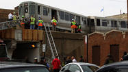 "<strong class=""byline""></strong>CTAand fire department officials originally said that half of an eight-car Red Line train was involved in a derailment Monday afternoon between the Granville and Loyola stations on the Far North Side, but the transit agency later relabeled the incident as a ""split switch issue.''"