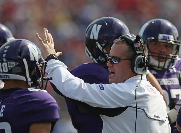 Pat Fitzgerald leads Northwestern against Indiana on Saturday.